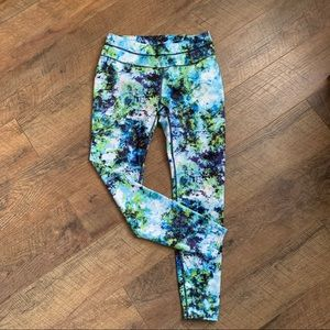 Athleta Tie-dye And Floral Leggings Sz M